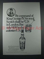 1971 King George IV Scotch Ad - Only $4.99 in U.S.