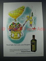 1971 Passport Scotch Ad - Travel Light