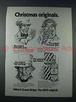 1971 Usher's Green Stripe Scotch Ad - Christmas