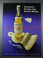 1977 Bell's Scotch Whisky Ad - Scotland's Number One