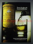 1977 Cutty Sark Scotch Ad - Scotlands Best Distilleries