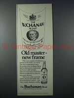 1979 Buchanan Blend Scotch Ad - Old Master, New Frame