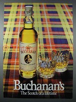 1982 Buchanan Scotch Ad - The Scotch of a Lifetime
