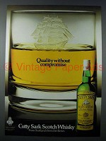1982 Cutty Sark Scotch Ad - Quality Without Compromise