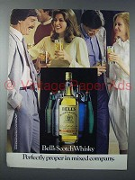 1983 Bell's Scotch Ad - Proper in Mixed Company