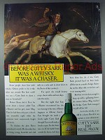 1986 Cutty Sark Scotch Ad - Before It Was a Chaser