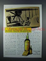 1987 Cutty Sark Scotch Ad - Small Gesture in Tradition