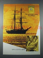 1990 Cutty Sark Scotch Ad - Live A Cutty Above