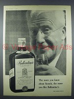 1958 Ballantine's Scotch Ad - More You Know
