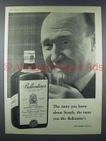 1958 Ballantine's Scotch Advertisement - The More You Know