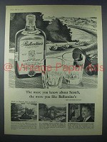 1959 Ballantine's Scotch Advertisement- The More You Know