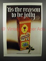 1970 Early Times Bourbon Whiskey Ad - Be Jolly