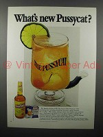1970 Early Times Bourbon Ad - What's New Pussycat?