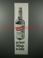 1970 Early Times Bourbon Ad - Heart Belongs to Daddy