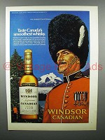 1972 Windsor Canadian Whisky Ad - Canada's Smoothest