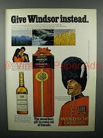 1972 Windsor Canadian Whisky Ad - Give Instead