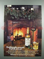 1976 Windsor Canadian Whisky Ad - Traditionally Smooth
