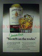 1978 Jameson Irish Whiskey Ad - On the Rocks