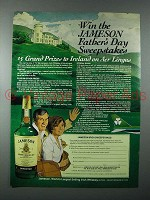1980 Jameson Irish Whiskey Ad - Win the Sweepstakes