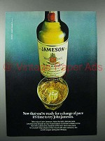 1981 Jameson Irish Whiskey Ad - Change of Pace