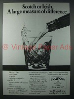 1983 Jameson Irish Whiskey Ad - Measure Difference