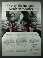 1984 Jameson Irish Whiskey Ad - On The One Hand