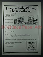 1984 Jameson Irish Whiskey Ad - The Smooth One