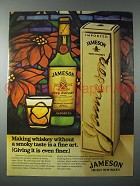 1985 Jameson Irish Whiskey Ad - Without Smoky Taste