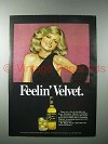 1977 Black Velvet Whisky Ad - Feelin' Velvet