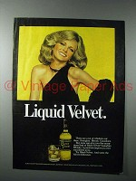 1977 Black Velvet Whisky Ad - Liquid Velvet