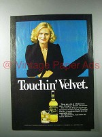 1977 Black Velvet Whisky Ad - Touchin' Velvet