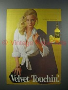 1979 Black Velvet Whisky Ad - Velvet Touchin'