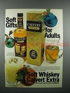 1976 Calvert Whiskey Ad - Soft Gifts for Adults