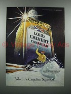 1979 Lord Calvert Canadian Whisky Ad - Superstar