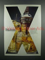 1980 Calvert Whiskey Ad - What's The Extra?