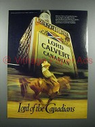 1981 Lord Calvert Canadian Whisky Ad - Rodeo