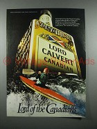 1981 Lord Calvert Canadian Whisky Ad - Kayak