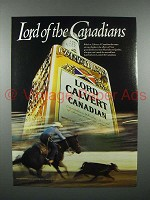 1982 Lord Calvert Canadian Whisky Ad - Cowboy