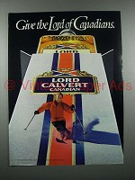 1983 Lord Calvert Canadian Whisky Ad - Skier