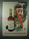 1973 Canadian Club Whisky Advertisement- Popular Christmas Club