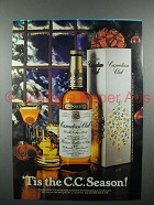 1980 Canadian Club Whisky Advertisement- 'Tis the C.C. Season