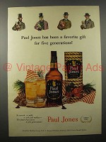 1951 Paul Jones Whiskey Ad - For Five Generations