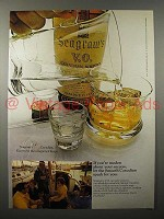1970 Seagram's V.O. Canadian Whisky Ad - Modest