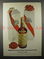 1970 Seagram's V.O. Canadian Whisky Ad - First on List