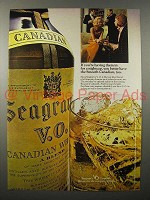1970 Seagram's V.O. Canadian Whisky Ad - Nightcap