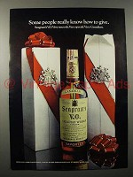 1971 Seagram's V.O. Canadian Whisky Ad - How to Give