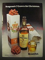 1971 Seagram's 7 Crown Whiskey Ad - for Christmas
