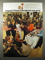 1971 Seagram's 7 Crown Whiskey Ad