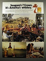 1972 Seagram's 7 Crown Whiskey Ad - America's