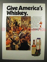 1973 Seagram's 7 Crown Whiskey Ad - America's
